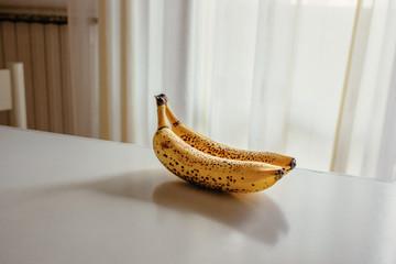 Ripe banana on table