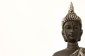 Printed roller blinds Buddha statue isolated on white background