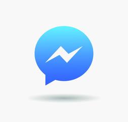 Facebook Messenger logo button vector editorial