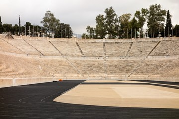 The famous Kallimarmaro (Panathenaic Stadium) where the first Olympic games were held