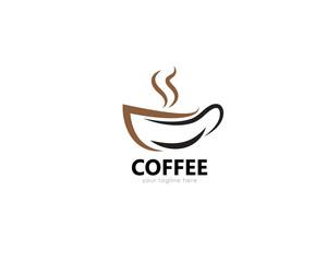 Coffee logo design. Inspiring brand for coffee shops, tea shops, coffee products, etc.
