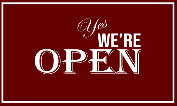 We are open notice board design
