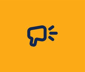 Audio Speaker Logo Premium Minimal emblem design template Symbol for Multimedia music audio