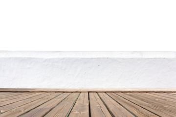 Plancher et mur blanc