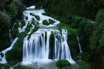 Marmore Waterfall, Valnerina, Terni, Umbria, Italia Wall mural