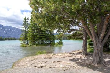 Two Jack Lake im Banff Nationalpark, Rocky Mountains, Alberta, Kanada