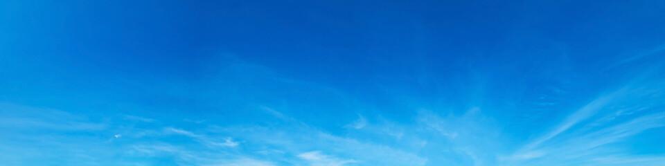 Aluminium Prints Heaven Panorama sky with cloud on a sunny day. Beautiful cirrus cloud. Panoramic image.