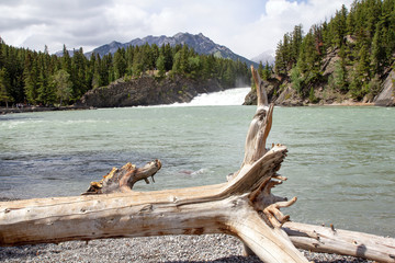 Bow Falls am Bow River, Banff, Rocky Mountains, Alberta, Kanada