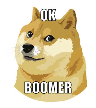 Ok Boomer - Doge internet meme for baby boomers by millenials
