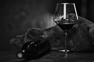 Spoed Foto op Canvas Alcohol concept alcohol glass / beautiful glass, wine restaurant tasting aged wine