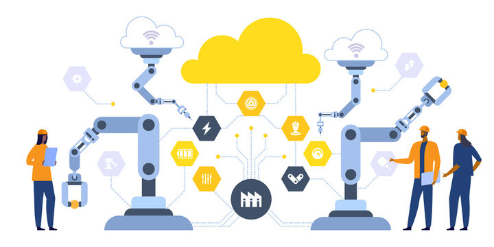 Smart industry 4.0 illustration Internet of things
