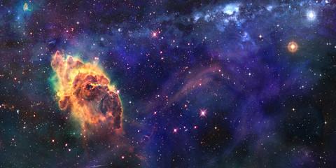 Space cosmic background of supernova nebula and stars