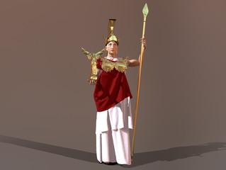 3d illustration of goddess Athena