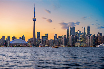 Wall Murals Toronto Toronto Skyline at Sunset in Toronto, Ontario, Canada