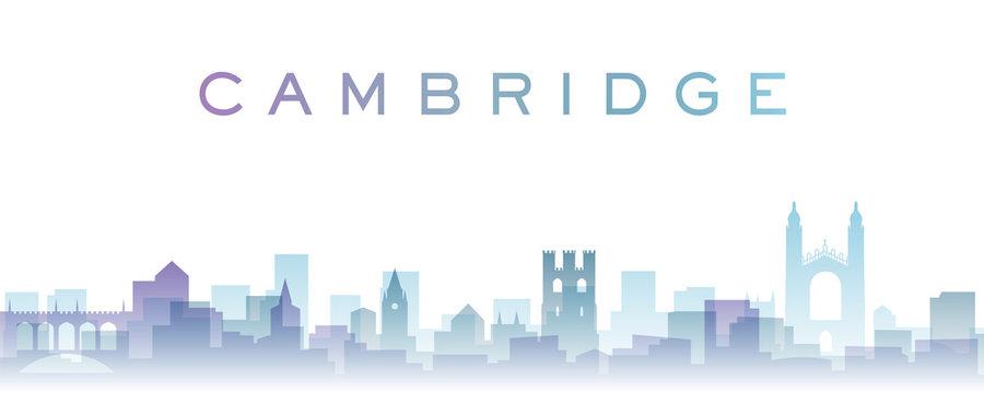 Cambridge Transparent Layers Gradient Landmarks Skyline