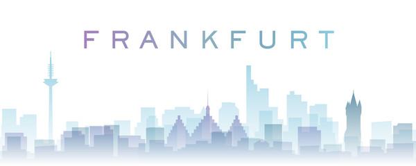 Frankfurt Transparent Layers Gradient Landmarks Skyline