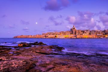 Valletta City Skyline In Malta From Manoel Island