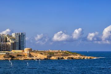Fort Tigne in Sliema Town in Malta