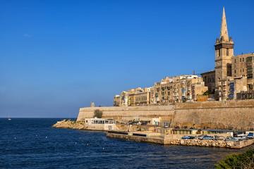 Walled Old City of Valletta in Malta