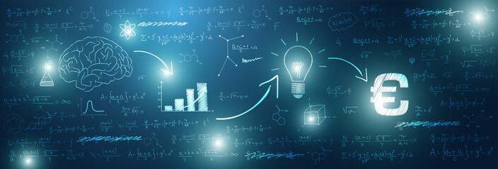 sfondo, grafica, lavagna, investimento, matematica, calcolare