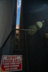 sky in alleyway