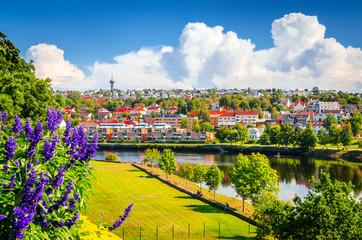 Wall Murals Northern Europe Panoramic view of beautiful city Trondheim, Norway