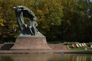 Obraz Pomnik Chopina, Szopen, Łazienki Królewskie, Warszawa, Polska - fototapety do salonu
