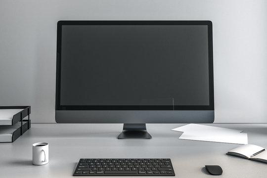 screen of computer monitor