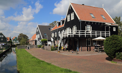 Historical houses in Marken, Holland