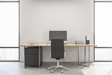 Workspace manager in a contemporary interior