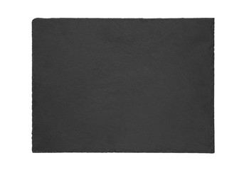 Fototapete - Natural slate plate isolated on white background