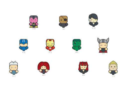 Icon The Avengers Age of Ultron and pantone of them.