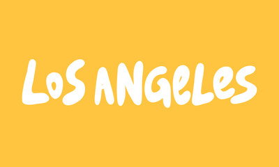 Los Angeles. Sticker for social media content. Vector hand drawn illustration design.  Fototapete