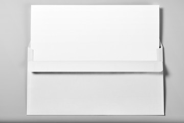Blank Letterhead or Sheet of Paper in Envelope