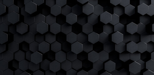 grey hexagons modern background 3d render 3d illustration