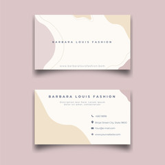 Fashion beauty corner, Apparel business, business card design.