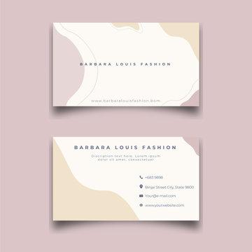 Fashion beauty corner, Apparel business, business card design.