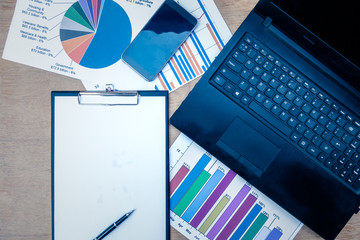 Company analyzes the company's annual financial statements, balances work with graphical documents. Economic picture, project, market, finance and tax office