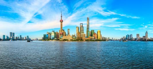 Foto auf Leinwand Shanghai Shanghai famous landmark architectural landscape