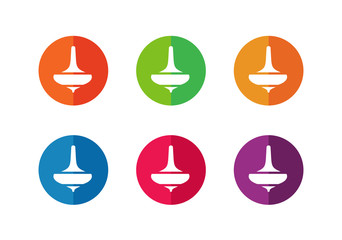 Spin top or whirligig logo icon design - Vector