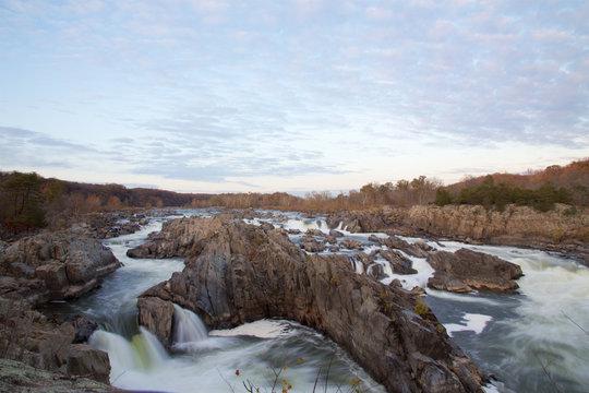 Great Falls Wasserfälle am Abend