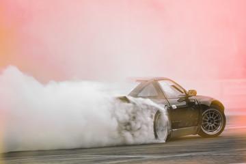 Motion Blur side view drift car