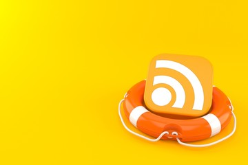 RSS icon inside life buoy