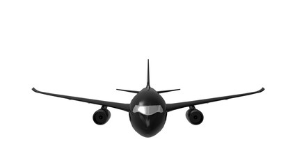 3d rendering of a jumbo jet commericial airplane isolated in white