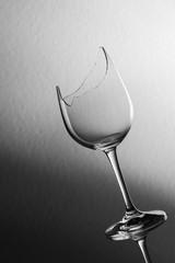 Broken wine glass slant