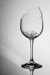 Broken wine glass soft brightness gradient