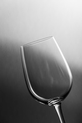 Wine glass slant on gradient