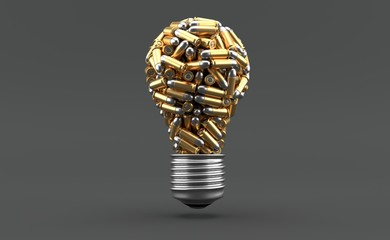 Ammunition in light bulb shape