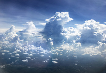 Strom clouds - aerial view from airplane