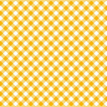Yellow Gingham seamless pattern.